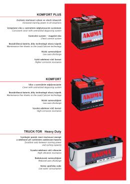 Katalog autobatérií Akuma