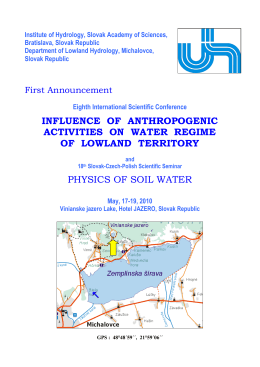 influence of anthropogenic activities on water regime of lowland