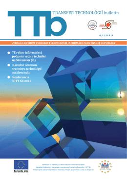 4/2013 - Transfer technológií - Centrum vedecko