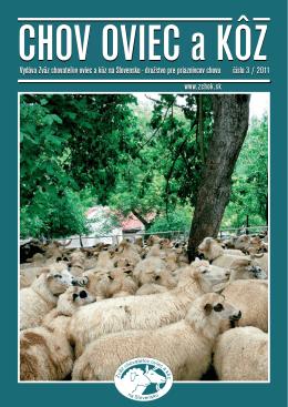 Číslo 03/2011 - Zväz chovateľov oviec a kôz na Slovensku