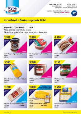 Akcia Retaila Gastrona január 2014