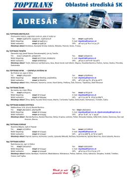 Zoznam stredísk TOPTRANS SR (PDF)