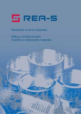 Realizácia a servis čerpadiel Nákup a predaj armatúr - rea-s