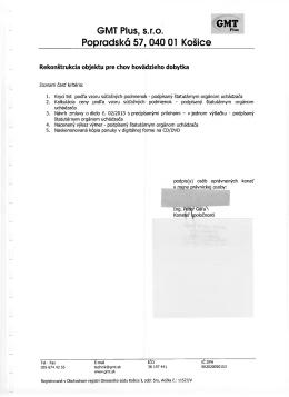 GMT Plus, s.r.o. Popradská 57,040 01 Košice
