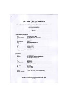 Návrh zmluvy o dielo č. 3A-ZoD-0080814