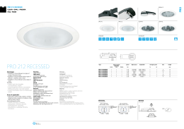Pro 212 rEcESSED - OMS Product Database