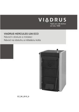 VIADRUS HERCULES U26 ECO Návod k obsluze a instalaci Návod