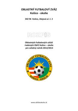 Rozpis - ObfZ Košice