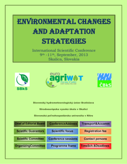 Environmental changes and adaptation strategies