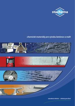 chemické materiály pre výrobu betónov a mált