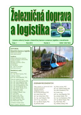 číslo 1/2014 - Fakulta prevádzky a ekonomiky dopravy a spojov