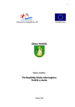 Hnilcik sprava - Spišská regionálna rozvojová agentúra