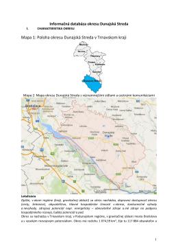 Informačná databáza okresu Dunajská Streda
