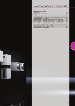 Nástěnné skříně pro datové sítě