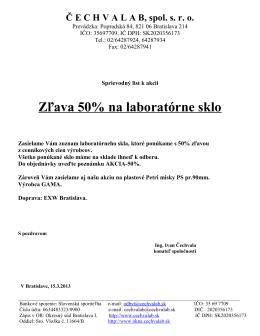Č ECHVALAB, spol. sro