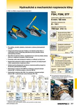 FSH, FSM, STF séria Hydraulické a mechanické