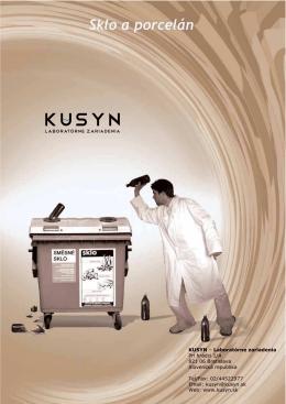 KUSYN – Laboratórne zariadenia Pri hrádzi 1/A 821 06 Bratislava