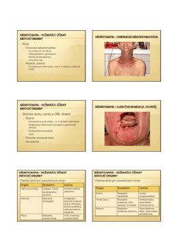 Rádioterapia - indikácie, kontraidikácia a nežiadúce účinky II