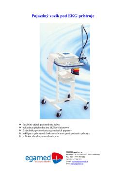 Pojazdný vozík pod EKG prístroje
