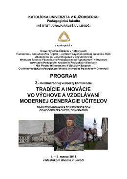 Pedagogická fakulta - Inštitút Juraja Páleša v Levoči