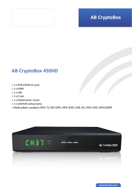 AB CryptoBox AB CryptoBox 450HD