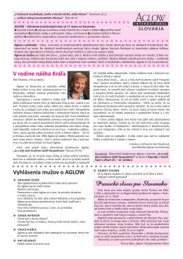 spravodaj - aglow.sk