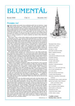Časopis Blumentál december 2012