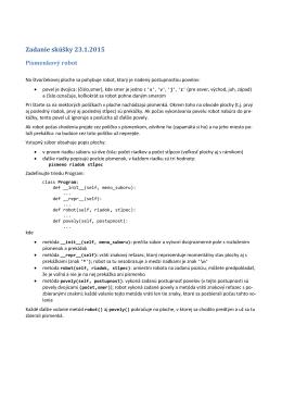 Zadanie skúšky 23.1.2015