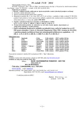Ponuka prihlasky na TID 59 PDF