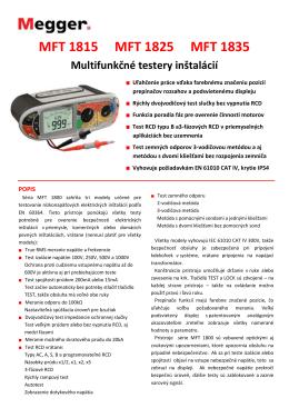 MFT1800 - Megger SK