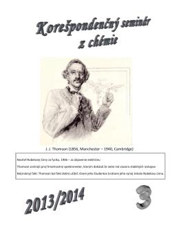 3.kolo - Korešpondenčný seminár z chémie