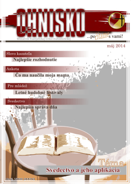 Máj 2014 - Evanjelická cirkev metodistická
