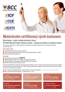 Medzinárodne certifikovaný výcvik koučovania