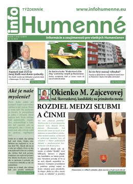 Okienko M. Zajcevovej - info Humenné | Noviny