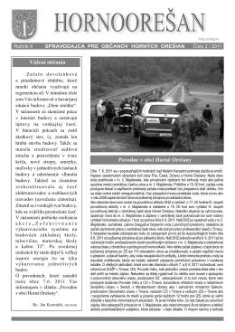 Hornoorešan - číslo 2/2011