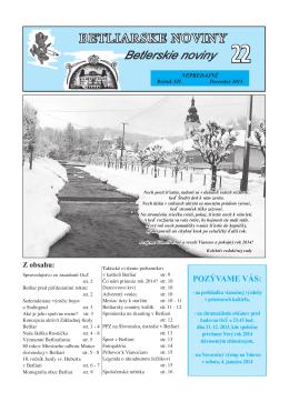 Betliarske noviny č. 22 (2013)