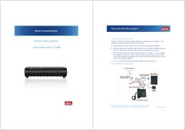 Inštalácia ADSL pripojenia a modemu Glitel GT-318RI
