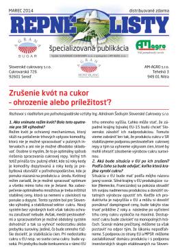 Prevziať Repné listy č.3 / 2014 (PDF)