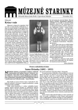 Múzejné starinky 2011 - Stiahnuť PDF
