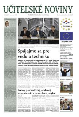 Učiteľské noviny - Domov - Štátny inštitút odborného vzdelávania