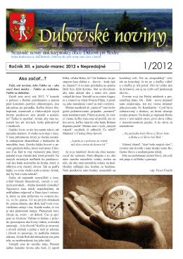 1/2012 - Dubová