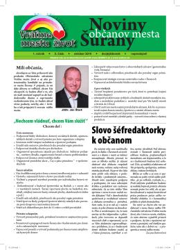 Noviny občanov mesta Šurany