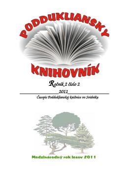 Ročník 2 číslo 2 Časopis Podduklianskej knižnice vo Svidníku