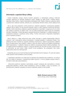 Stiahni súbor (PDF) - MUDr. Jurkovič, PhD., MPH