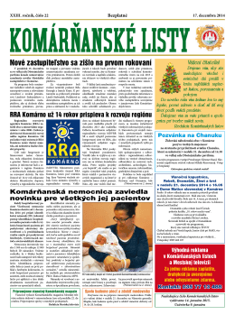 Komárňanské listy 22/2014
