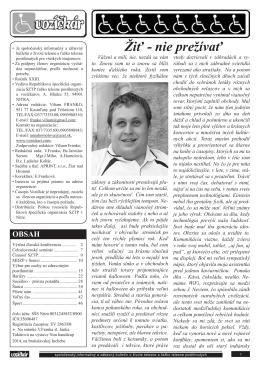 Vozičkár 1/2014 - Republiková špecifická organizácia SZTP
