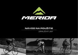 Návod na obsluhu bicyklov Merida a UMF [PDF | 7.05 MB]