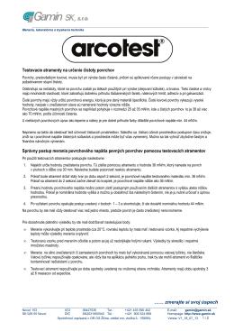 Informácie Arcotest