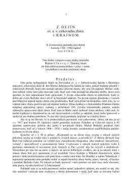 Z dejín ev.a.v. cirkevného zboru v Krajnom (PDF)