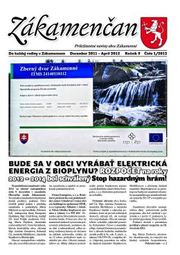 Bude sa v oBci vyráBať elektrická energia z Bioplynu